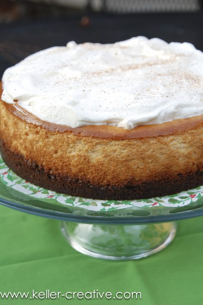 egg nog cheesecake. | 3) Cheesecake | Pinterest