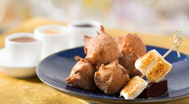 California Grill disney Warm homemade banana fritters dusted with ...