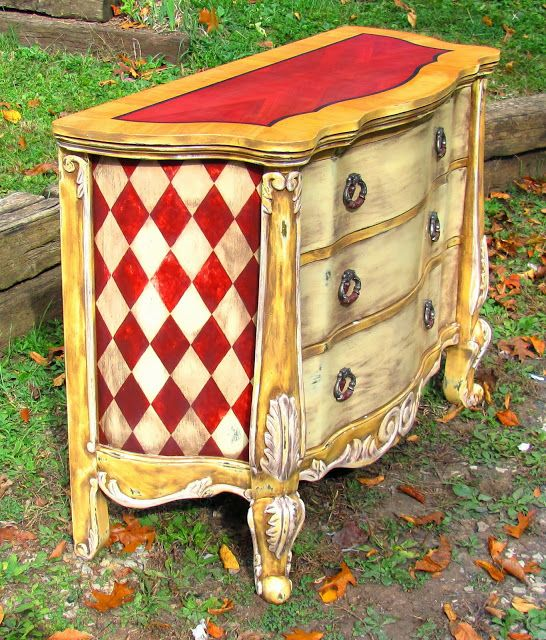 Hand painted custom finished furniture decorative for Hand painted furniture