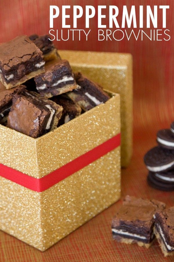 Peppermint slutty brownies | Let's get cookin'! | Pinterest