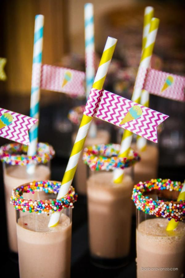 Sprinkle-Rimmed Glasses for Shakes #food #foodporn #yum #instafood #dinner #lunch #breakfast #fresh #tasty #food #delish #delicious #1nstagramtags #yummy #amazing #instagood #photooftheday #sweet #eating #foodpic #foodpics #eat #hot #foods #hungry #foodgasm