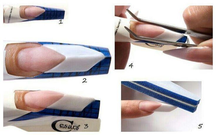 Наращивание ногтей на формах поэтапно
