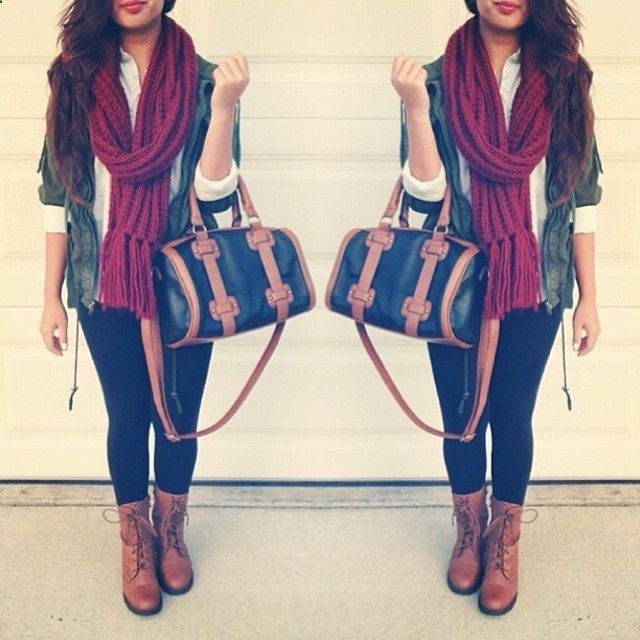 combat boots outfit fall