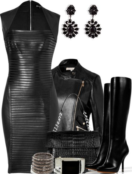 Look 7: ~Rock n Roll Chic~ Fall 2013 Trend Inspiration: Leather! #7LooksFallChallenge