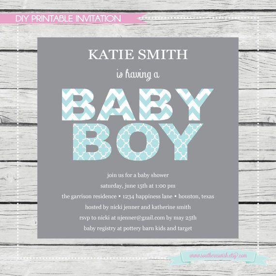 baby shower invitation with decorative letters by southernswish 15