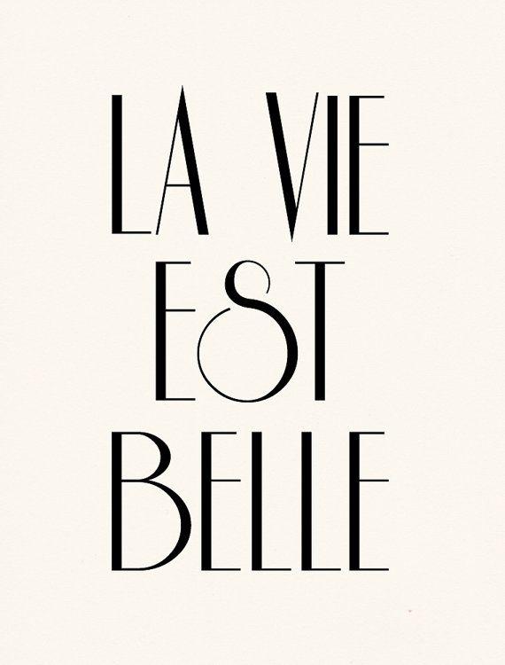 La Vie Est Belle — tattoo so unique.  Life is beautiful