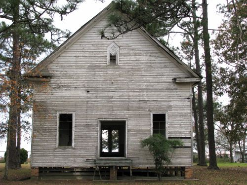 Tattnall County GA Abandoned Old Country Church Rural Southern Photo Copyright Brian Brown Vanishing South Georgia