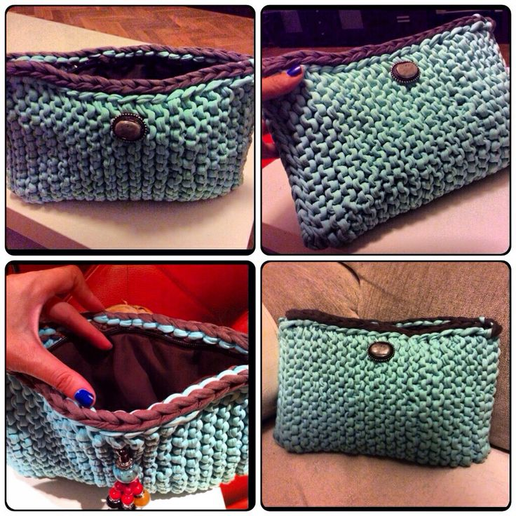 Pin by srura shevell on labores lana y trapillo pinterest for Bolsos de crochet de trapillo