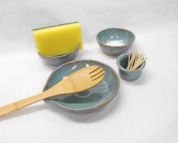 Kitchen Set Wedding Gift Salt Bowl Pinch Pot by PotteryBySaleek, USD58 ...