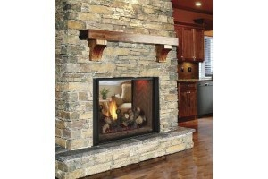 See Through Gas Fireplace Insert Basement Ideas Pinterest