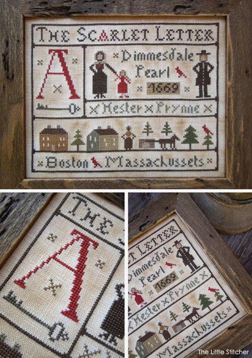 The Scarlet Letter PDF Digital Cross Stitch by LittleStitcherShop, $11 ...