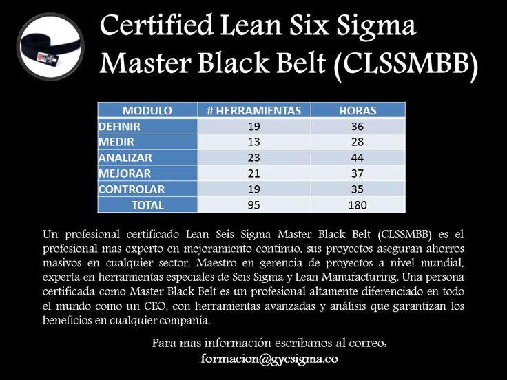 master black belt lean six sigma certificaciones
