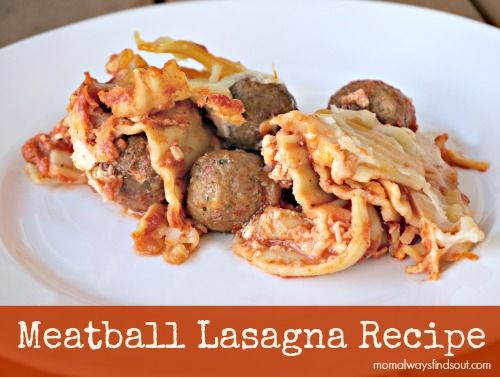 Easy and Delicious Meatball Lasagna #Recipe (sponsored)