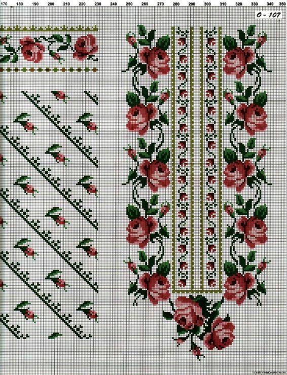 Вышивка крестом женской вышиванки бесплатно