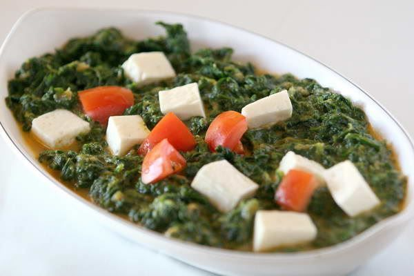 ... spiced and cooked with fresh spinach. #SaagPaneer #cheese #spinach #