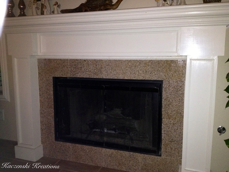 Hubbys Homemade fireplace mantel using crown molding & granite slabs :) K.Kreations-Homemade,Repurposed and refinished items.Creations available to rent for weddings & events.From lighting to drapery to homemade dance floors.Other items not event related(home design/re-modeling,projects) can be done/made to order.Upcoming website in the works.