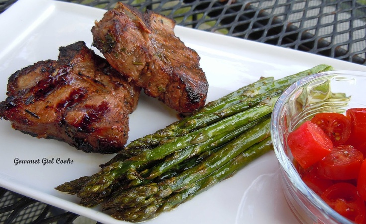 ... Night's Greek Style Marinated Grilled Lamb Chops & Roasted Asparagus