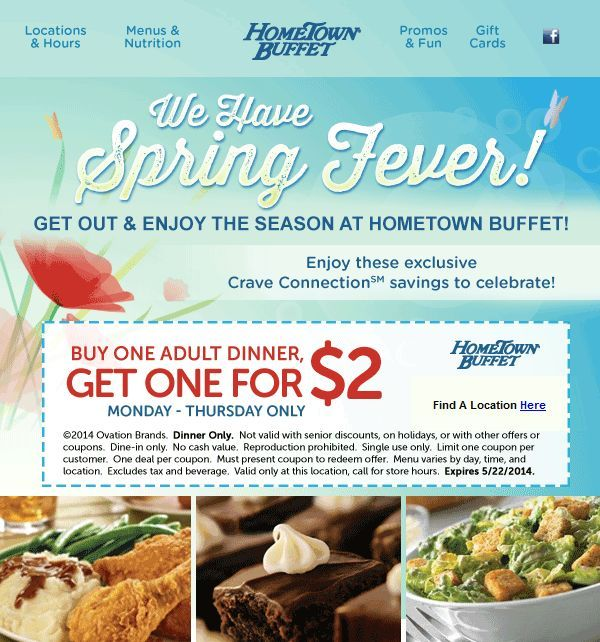 Hometown buffet breakfast coupon 2018
