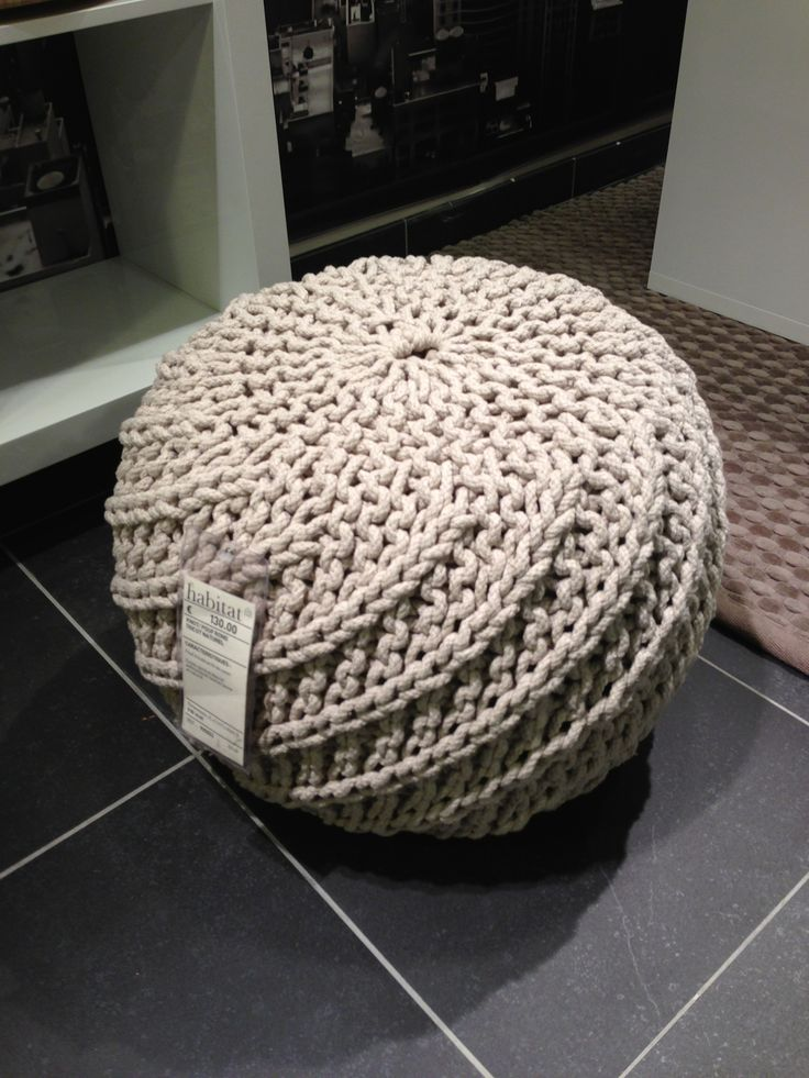 knitted ottoman furniture