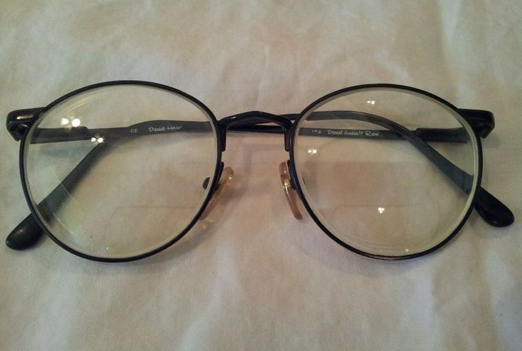 Black Round Eyeglass Frames by DANIEL HUNTER Made in Japan