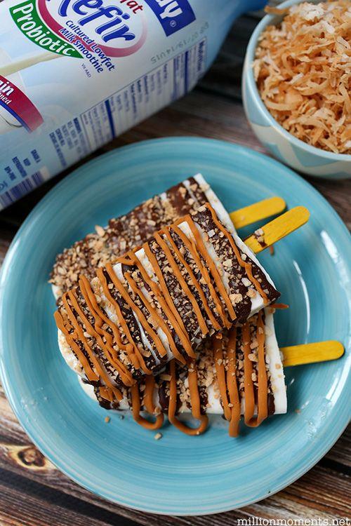 Skinny Samoa Pops recipe with Lifeway Kefir #shop