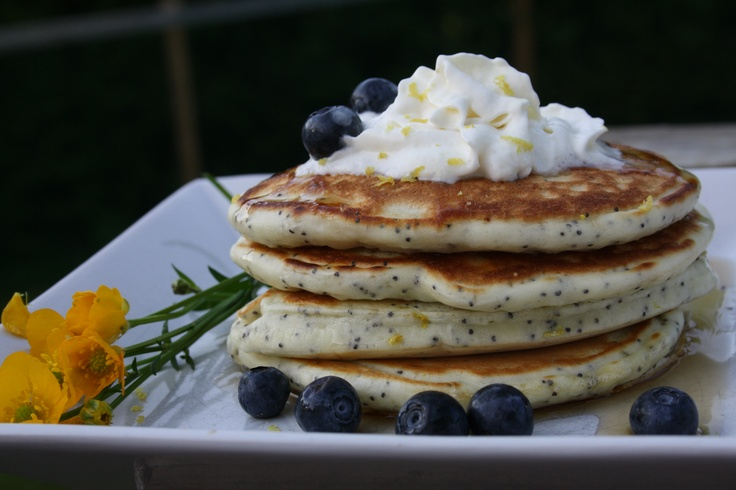 Lemon Poppy Seed Pancakes. | Creations by Me... | Pinterest
