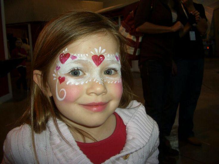 valentine face paint