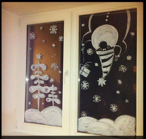 Рисунки своими руками на окне