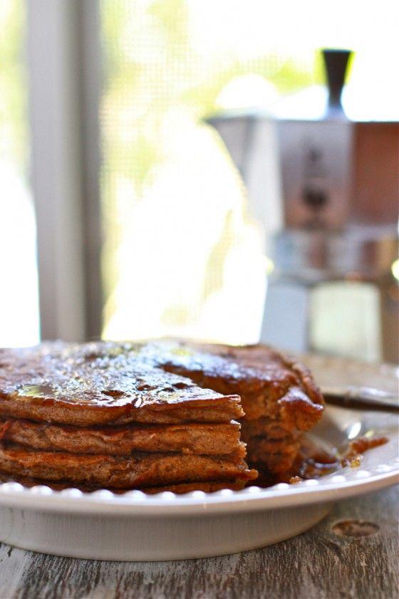 whole grain gingerbread pancakes | deliciousness | Pinterest