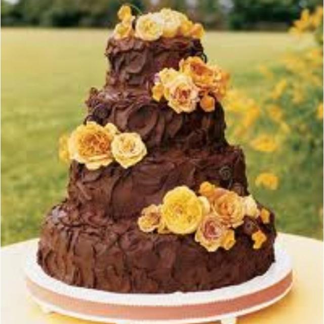 Rich Chocolate Frosting Wedding Cake