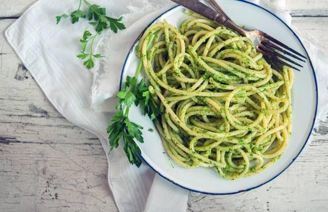 Spaghetti with Parsley Pesto | Food | Pinterest