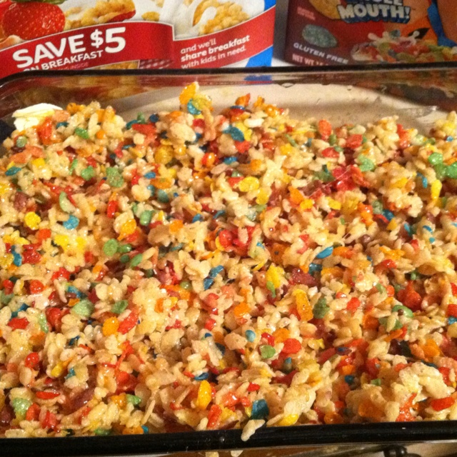 and Fruity Krispy Treats.4 cups of Rice Krispies2 cups of Fruity ...