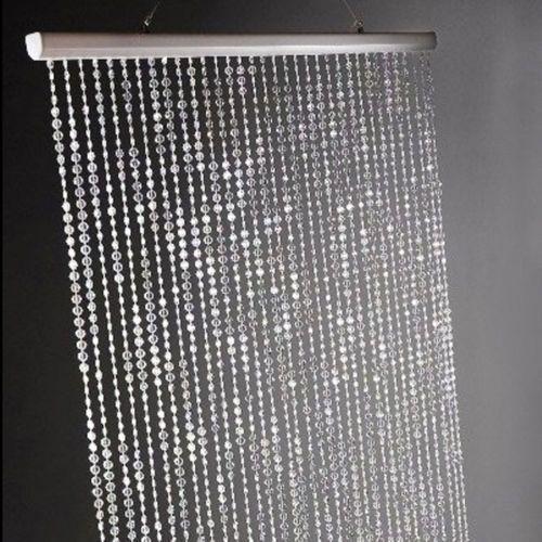 Clear acrylic crystal beaded curtain wedding bridal party - Crystal door curtain beads ...