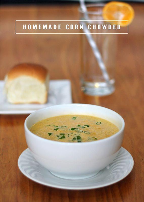 Yummy! Homemade Spicy Corn Chowder. | Eat | Pinterest