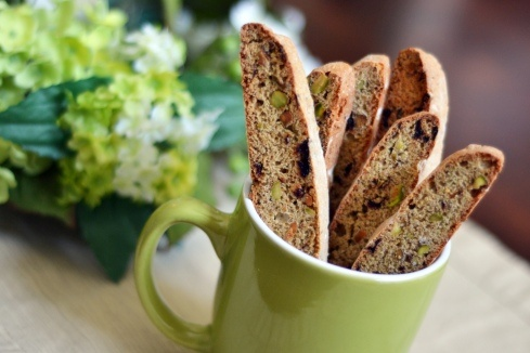 Dried Cherry and Pistachio Biscotti - Easy and so good! #recipe #food
