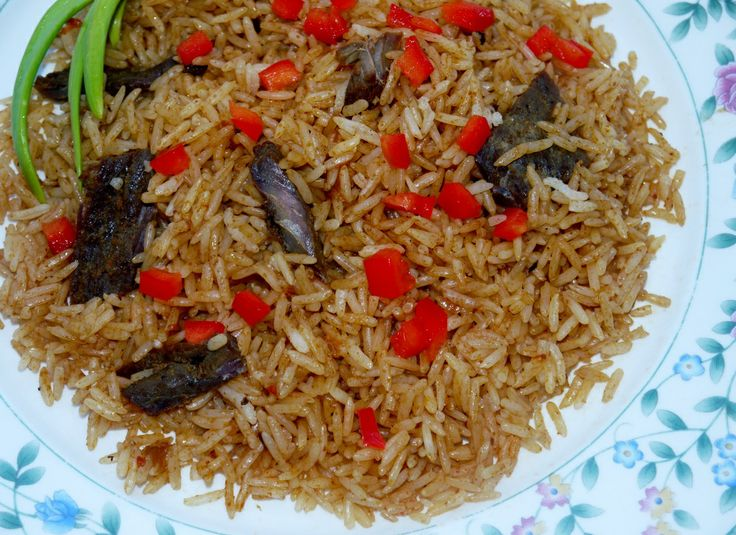 African food, Nigerian food Jollof Rice. West African Jollof Rice!