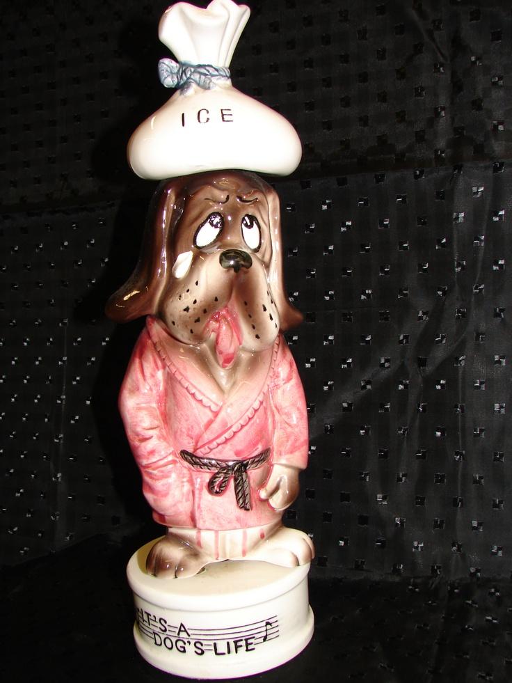 "It's a Dog's Life musical liquor decanter-plays ""How Dry I Am""!  $30.00"