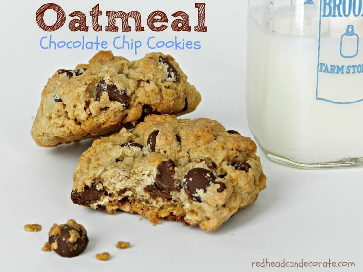 Oatmeal Chocolate Chip Cookies Redhead Can DecorateRedhead Can ...