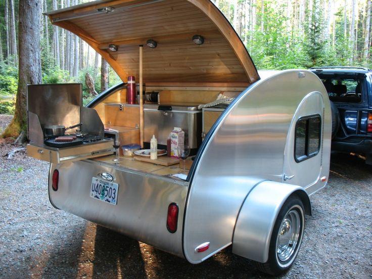 Kitchen teardrop camper pinterest for Teardrop camper kitchen ideas