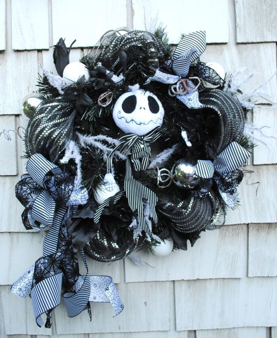 Halloween Wreath, Christmas Wreath, Nightmare Before Christmas Jack S ...