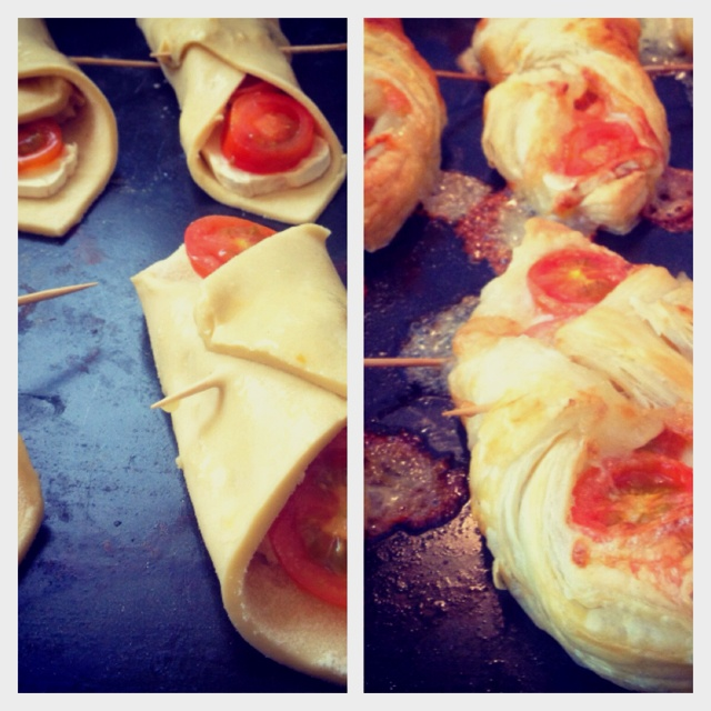 Goats cheese and tomato turnovers | dine | Pinterest