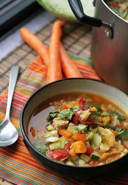 Veggie hot and sour soup | Something Delicious | Pinterest