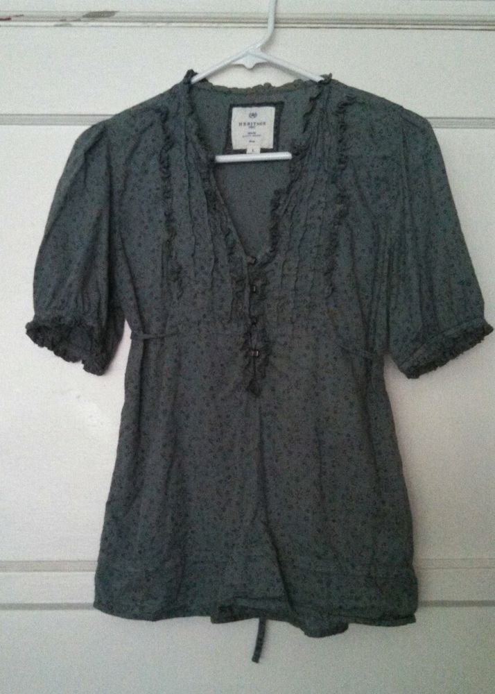 Turquoise Blouse Forever 21 10