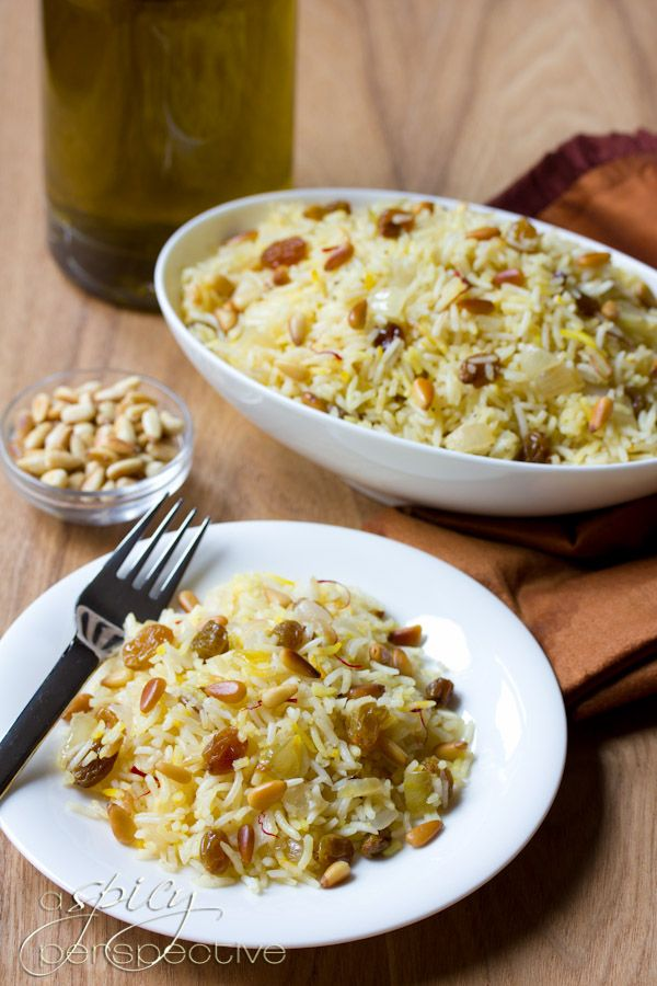 Gluten Free Saffron Rice with Golden Raisins and Pine Nuts #vegan # ...