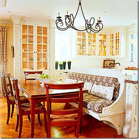 Kitchen island with banquette grove pinterest - Kitchen banquette seating ...