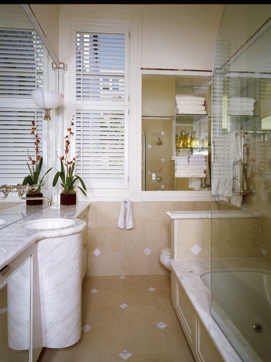Long narrow room bathrooms small designs pinterest - Narrow shower room design ...