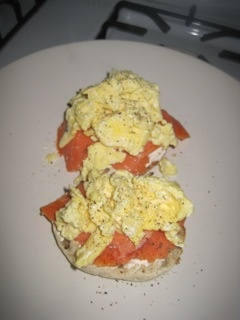 Egg And Smoked Salmon Open-Faced Breakfast Sandwich Recipe ...