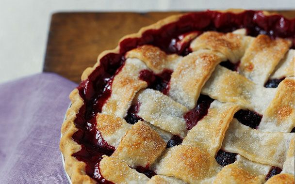 Lattice-Top Blackberry Pie | Cake & Pie | Pinterest