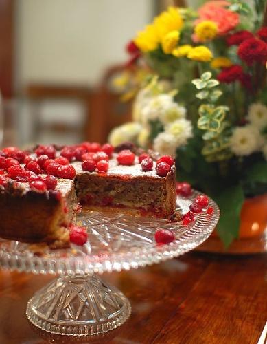 Dessert: Martha Stewart's Cranberry, Almond, and Cinnamon Tart. This ...