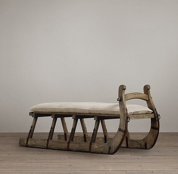 Antique Hungarian Sleigh Bench For The Home Pinterest